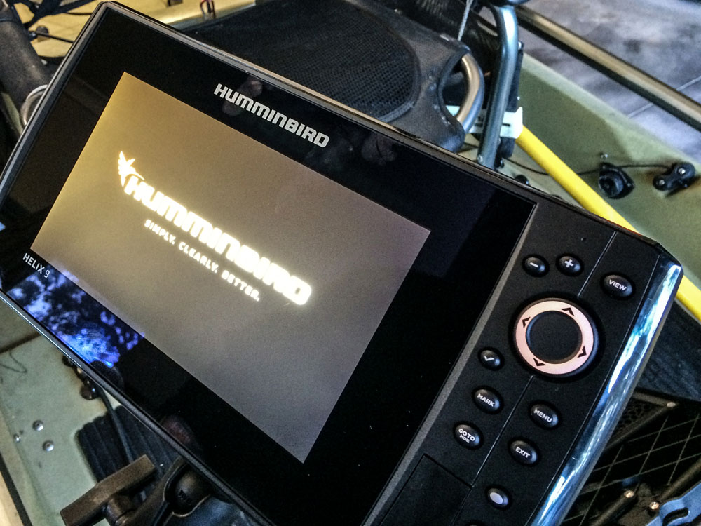 Humminbird-turned-on