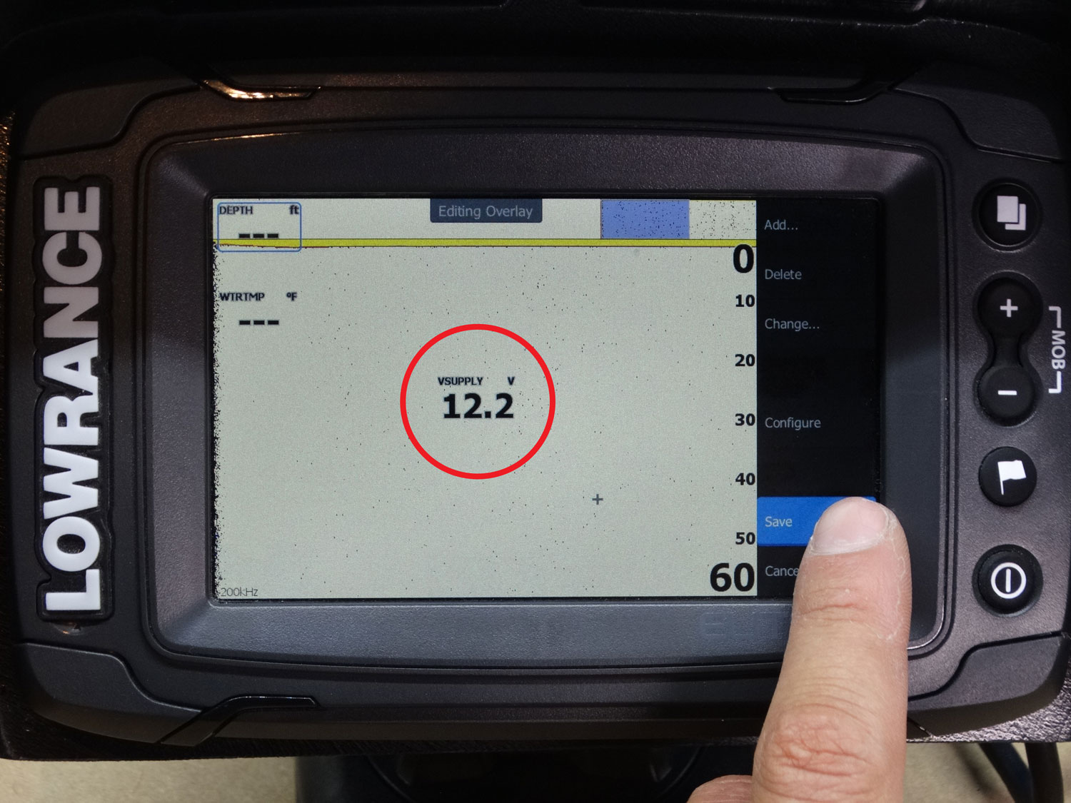 How To Show Battery Voltage On a Lowrance TI Fish Finder