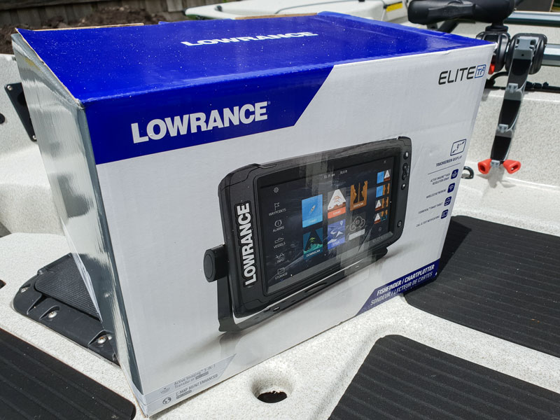 Lowrance Elite 9 TI2 Installed on Hobie