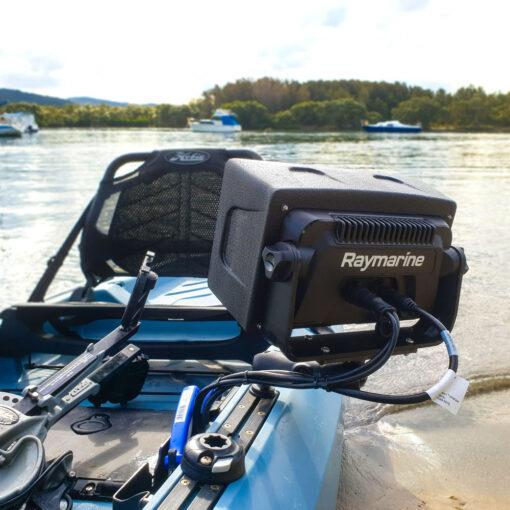 Installing fish finder on kayak