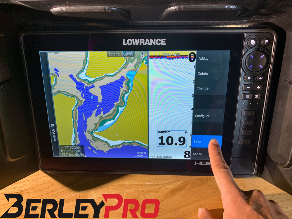 Lowrance Voltage Remember to hit Save