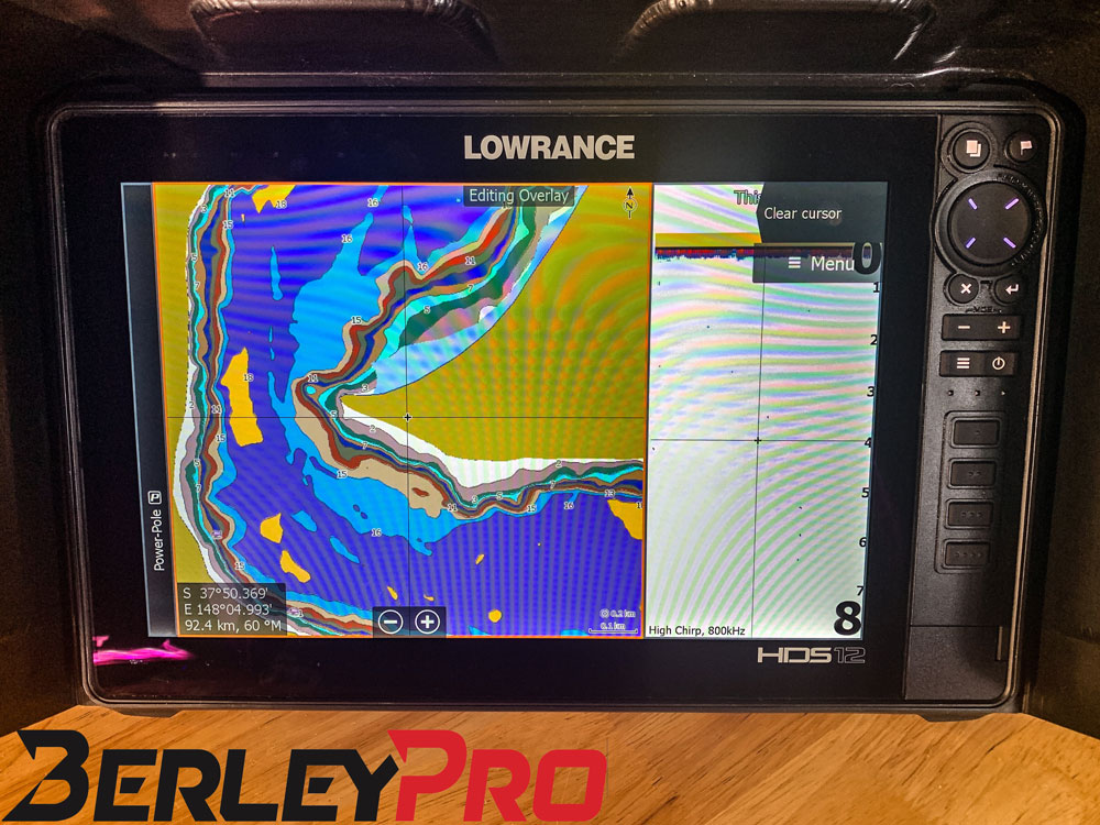 Displaying voltage on Lowrance Fish Finder