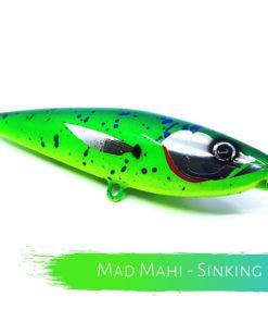 Catch Handmade Stickbait Ballistic Blue Cyan Supreme Mad Mahi